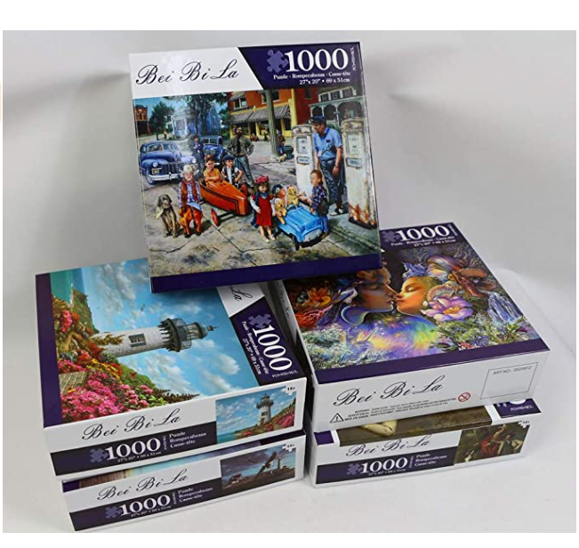 Jigsaw Puzzles 1000 Pieces for Adults Kids Floor Puzzle Intellectual Game Learning Decompression Toys Pier Tavern Paper Jigsaw Puzzles