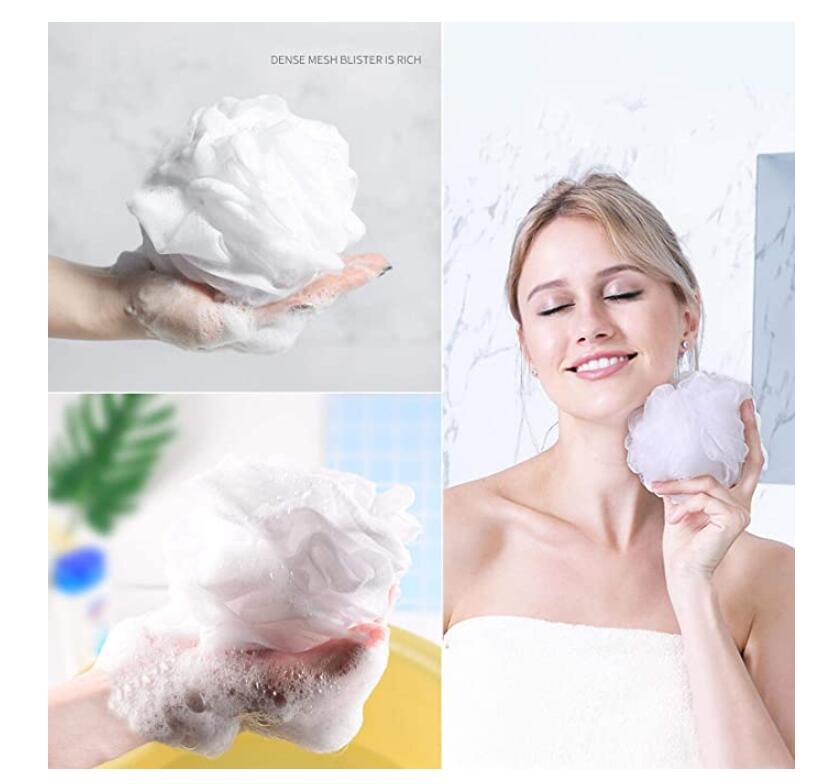 Bath Shower Loofah Sponge Pouf Body Scrubber Exfoliator (Set of 6)