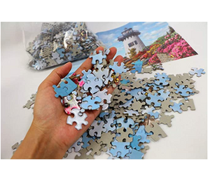 Jigsaw Puzzles 1000 Pieces for Adults Kids Floor Puzzle Intellectual Game Learning Decompression Toys House in The Forest Paper Jigsaw Puzzles