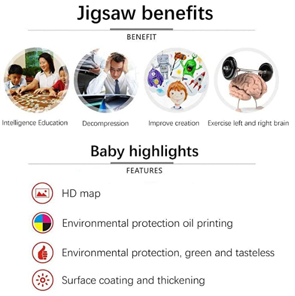 Jigsaw Puzzles - 1000 Pieces Picture Assembling Game for Children and Adult - Educational Learning Toy Gift for Boys and Girls - Home Rimless Classcal Landscape Digital DIY Decoration Painting (A)