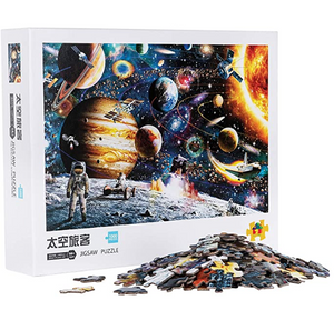 Puzzle-Space-1000 Pieces Square Puzzle Color Challenge Jigsaw Puzzles for Adults and Kids