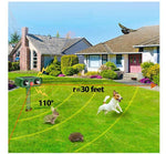 Load image into Gallery viewer, Animal Pest Repeller Set, Outdoor Solar Powered Ultrasonic Signal Strong Flash Garden Lawn Park Protector Electronic Animal Scarer for Bird Cat Dogs Rat Snake Wild Boar Rabbit Raccoons Device