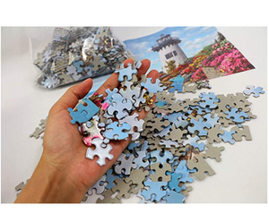Jigsaw Puzzles 1000 Pieces for Adults Kids Floor Puzzle Intellectual Game Learning Decompression Toys Flower Castle Paper Jigsaw Puzzles