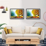 Load image into Gallery viewer, Puzzles for Adults Jigsaw Puzzles 1000 Pieces for Adults Kids–Autumn Scene Oil Painting Style Jigsaw Puzzle Game Toys Gift