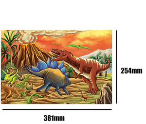 4 X 100 Pieces Set Jigsaw Puzzles for Kids, Alonea Cartoon Dinosaur Brain Games/Pattern Poster for Toddler Children Learning Educational Gift Toys for Boys Girls (100 Pieces, A)