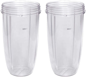 Replacement Cup for Nutribullet Replacement Parts 32oz for Nutri Bullet 600W and 900W, Pack of 2 (Renewed)