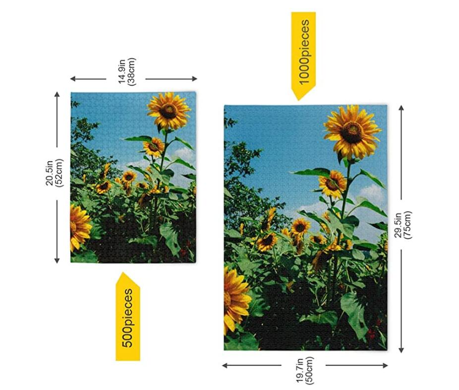 500 Piece Puzzle for Adults Family Entertainment Intellectual Fun Game - Blooming Sunflowers