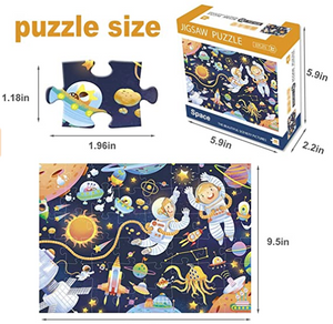 Puzzles for Kids Ages 3-5, Space Jigsaw Puzzles 48 Pieces Preschool Educational Learning Toys Puzzles for Toddlers Boys and Girls - Best for 2, 3, 4, 5, and 6 Year Olds