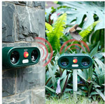 Load image into Gallery viewer, Animal Repeller 2 Packs, Cat Repeller High Power, Solar Ultrasonic Repeller with LED Lights, Waterproof Cat Repeller, Best Garden Companion, Expel Cats, Dogs, Birds, etc