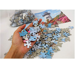 Load image into Gallery viewer, Jigsaw Puzzles 1000 Pieces for Adults Kids Families, Stress Reliever Micro-Sized Flowers Castle Painting Puzzle DIY Colorful Toys Preschool Educational Games Difficult Puzzle Art for Men and Women