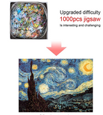 Load image into Gallery viewer, Jigsaw Puzzle Kids Adult, 1000pcs Puzzles for Adults,Starry Night Jigsaw Puzzle Picture Assembling Puzzle Intellectual Game Learning Education Decompression Toys