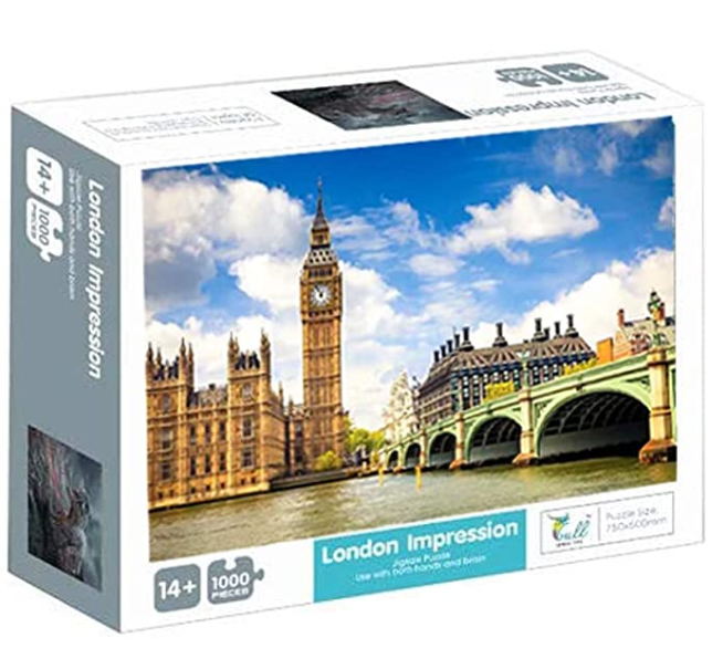 1000 PCS Jigsaw Puzzles for Adults - Big Ben, Educational Intellectual Decompressing Fun Game for Kids Adults