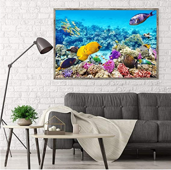1000 Pieces Puzzles for Adults Ocean World Jigsaw Puzzles Challenging Puzzle Large Difficult Fish Animals Puzzles Kids DIY Toys Gift for Home Decor