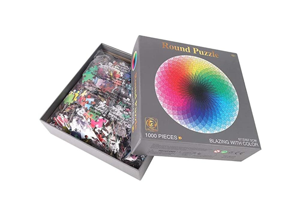 1000 Piece Puzzles for Adults Kids, Gradient Color Rainbow Jigsaw Puzzle Difficult and Challenge