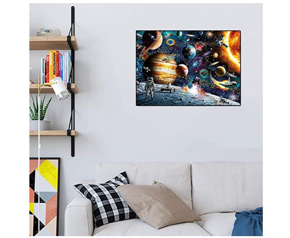 "Space Puzzles 1000 Pieces Jigsaw Puzzles for Adults, Planets in Space Jigsaw Puzzle for Kids, Family Puzzle-Finished Size 70cm x 50cm (27.56"" x 19.69"")"
