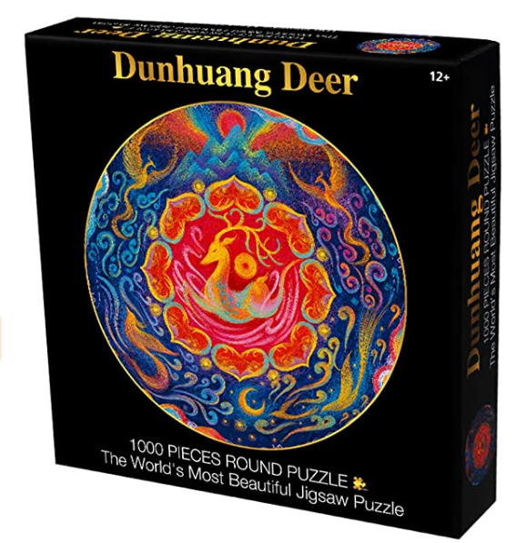 Puzzle- Dunhuang Deer-Flying Deer-1000 Pieces Jigsaw Puzzle Rich Color Challenge 1000 PCS Round Jigsaw Puzzles