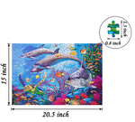 Load image into Gallery viewer, 500 PCS Jigsaw Puzzles - Ocean World, Educational Intellectual Decompressing Fun Game for Kids Adults