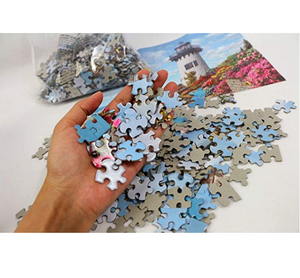 1000 Pieces Jigsaw Puzzles for Adults, Landscape Lighthouse Bay Jigsaw Large Puzzle Game Toys Gift DIY Collectibles Modern Room Decoration