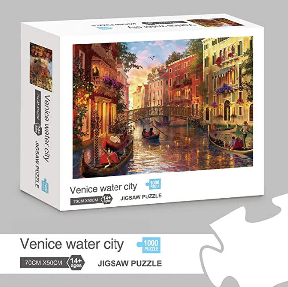 Jigsaw Puzzles 1000 Pieces for Adults Venice Water City Educational Fun Game Intellectual Decompressing Interesting Puzzle