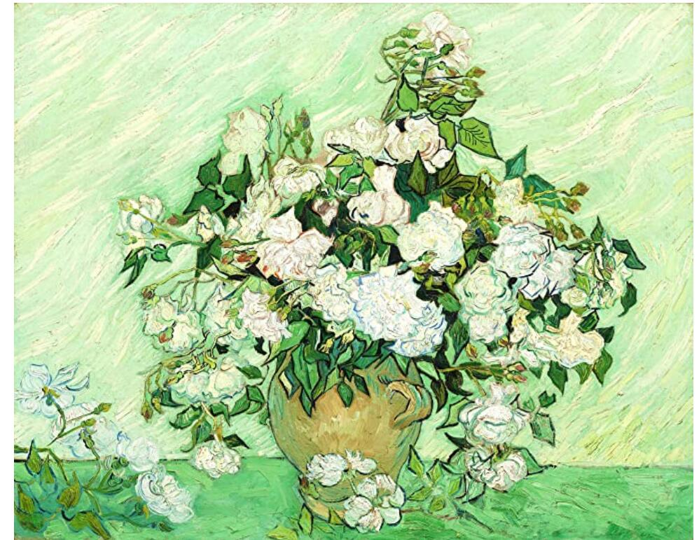500 Piece Puzzle for Adults Wooden Large Puzzle Toy Jigsaw Puzzles - Van Gogh Roses