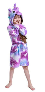 Load image into Gallery viewer, 2020 Newest Unicorn Bathrobe for Girls,Premium Flannel Hooded Robe-Unicorn Gifts