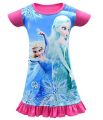 Load image into Gallery viewer, Toddler Girl Baby Princess Costume Cartoon Pajama Set Print Dress