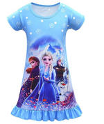 Load image into Gallery viewer, Toddler Girl Baby Princess Costume Cartoon Pajama Set PJS Dress