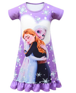 Load image into Gallery viewer, Baby Girls Princess Pajamas Toddler PJS Nightgown Dress