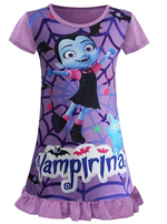 Load image into Gallery viewer, Vampirina Toddler Night Gown for Little Girls Pajamas Dress
