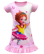 Load image into Gallery viewer, Fancy Nancy Pajamas for Girls Printed Princess Dress Nightgown for Toddler 4-9Years