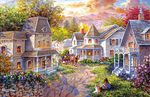 Load image into Gallery viewer, House in The Forest Jigsaw Puzzles for Adults 1000 Piece Large 27.16 x 19.69 Inch Children and Cars Pattern Brain Games Teaser Daily DIY Pastime at Home Leisure Game Fun Toys Gift