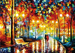 Load image into Gallery viewer, 1000 Pieces Jigsaw Puzzles for Adults and Teens-Walking in The Rain Night-Beautiful Scenery Puzzle-Brain Challenge Puzzle for Kids-Unique Home Decorations and Gifts