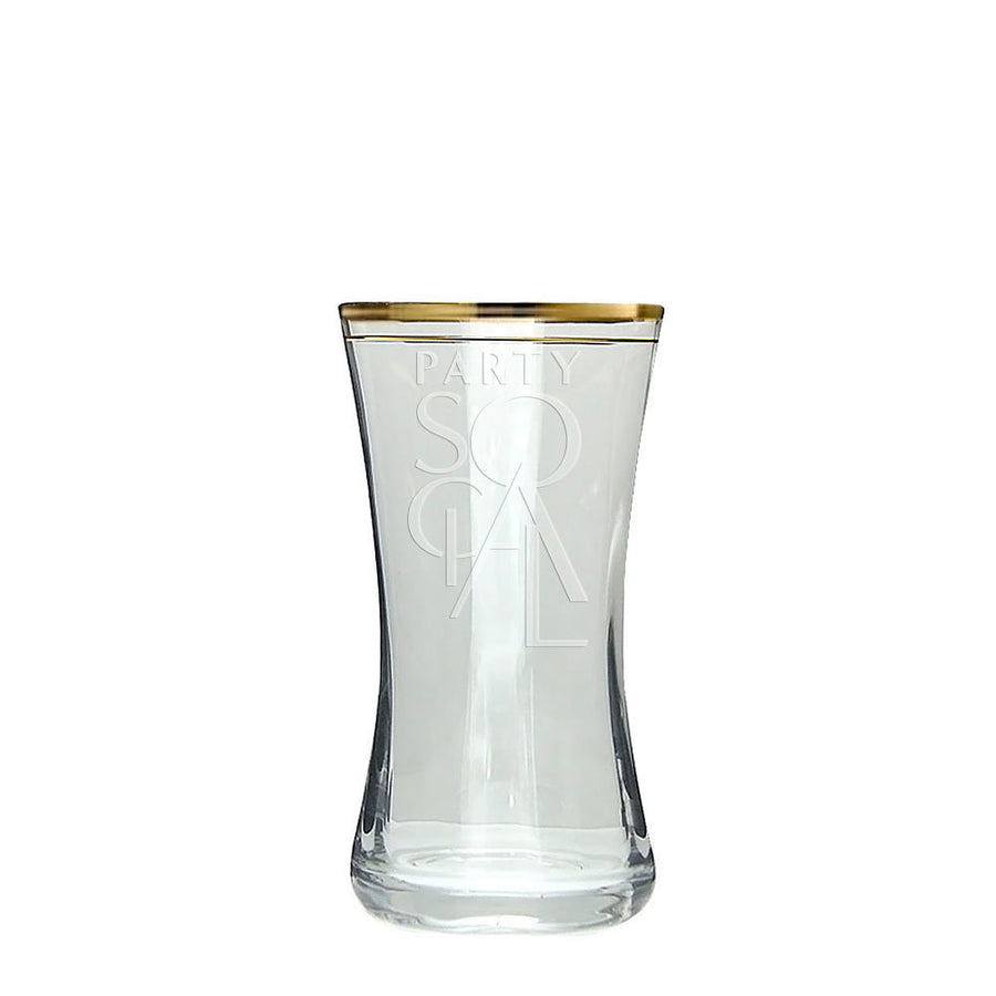 GOLD RIMMED GLASS