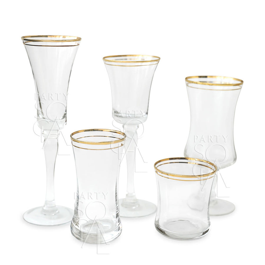 GOLD RIMMED WINE GLASS