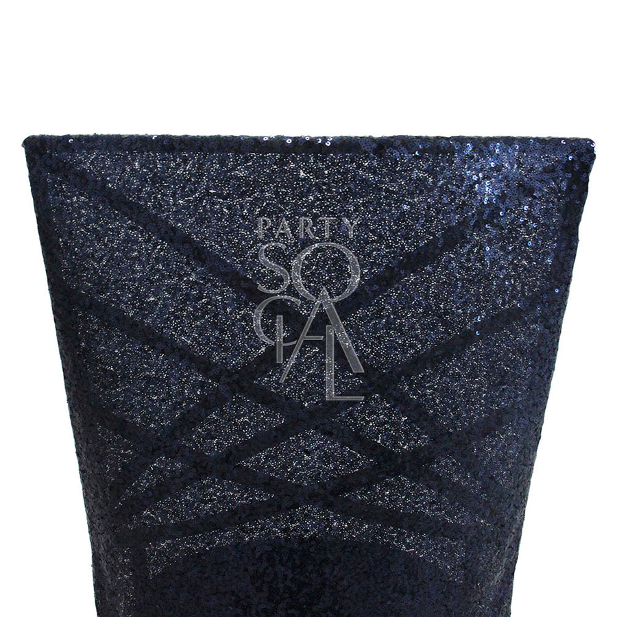 CHAIR COVER NAVY SEQUIN CHAMELEON