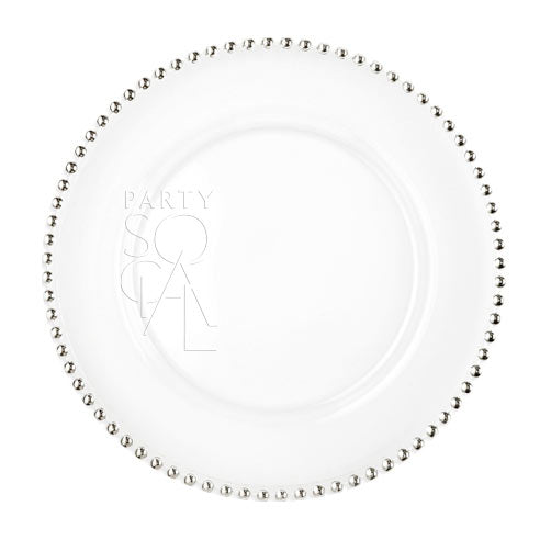 CHARGER PLATE - GOLD BEADED