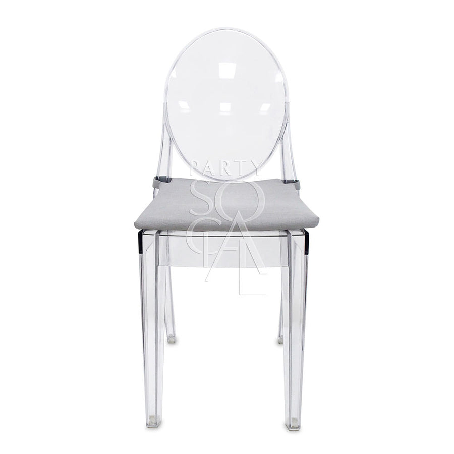 SEAT COVER GHOST CHAIR LIGHT GREY