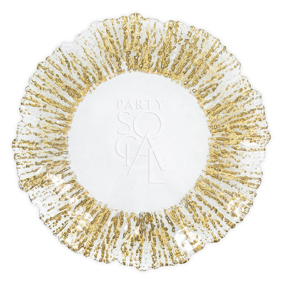 CHARGER PLATE - GOLD LEAF
