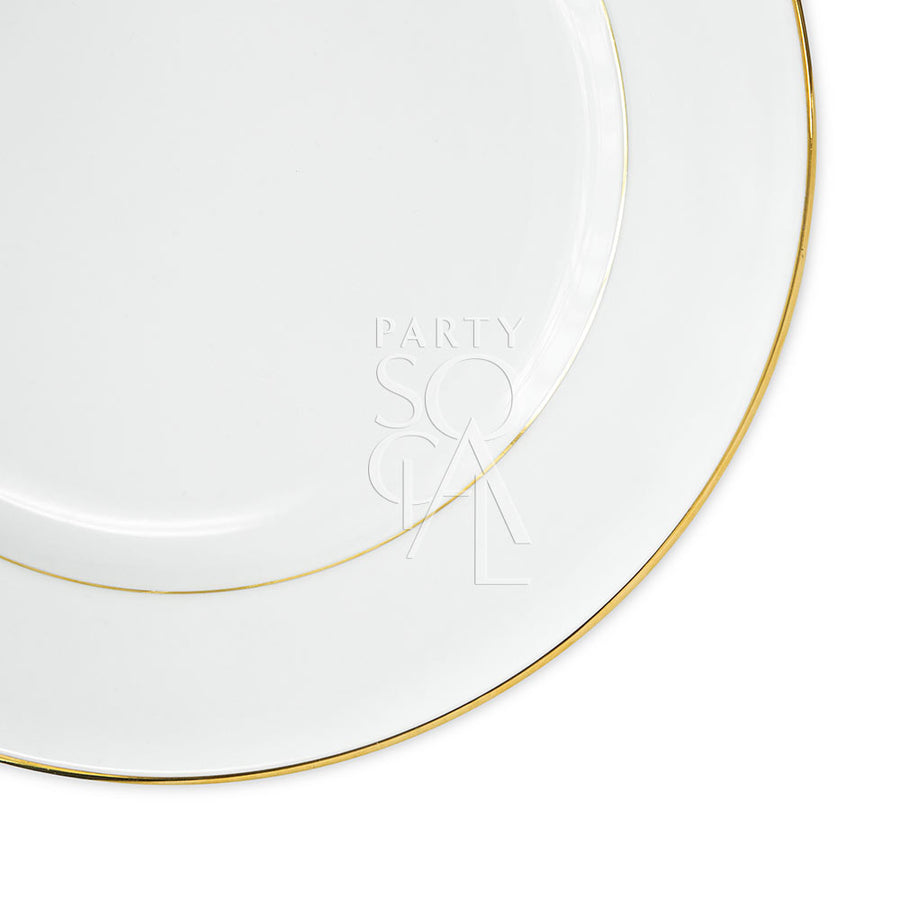 CHARGER PLATE - MODERN CHINA W/ GOLD RIM