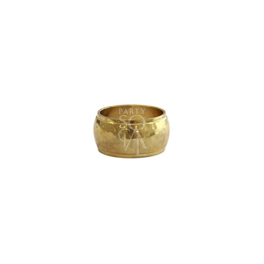 NAPKIN RING HAMMERED ROUND