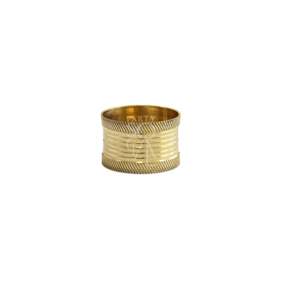 NAPKIN RING GOLD LINED ROUND