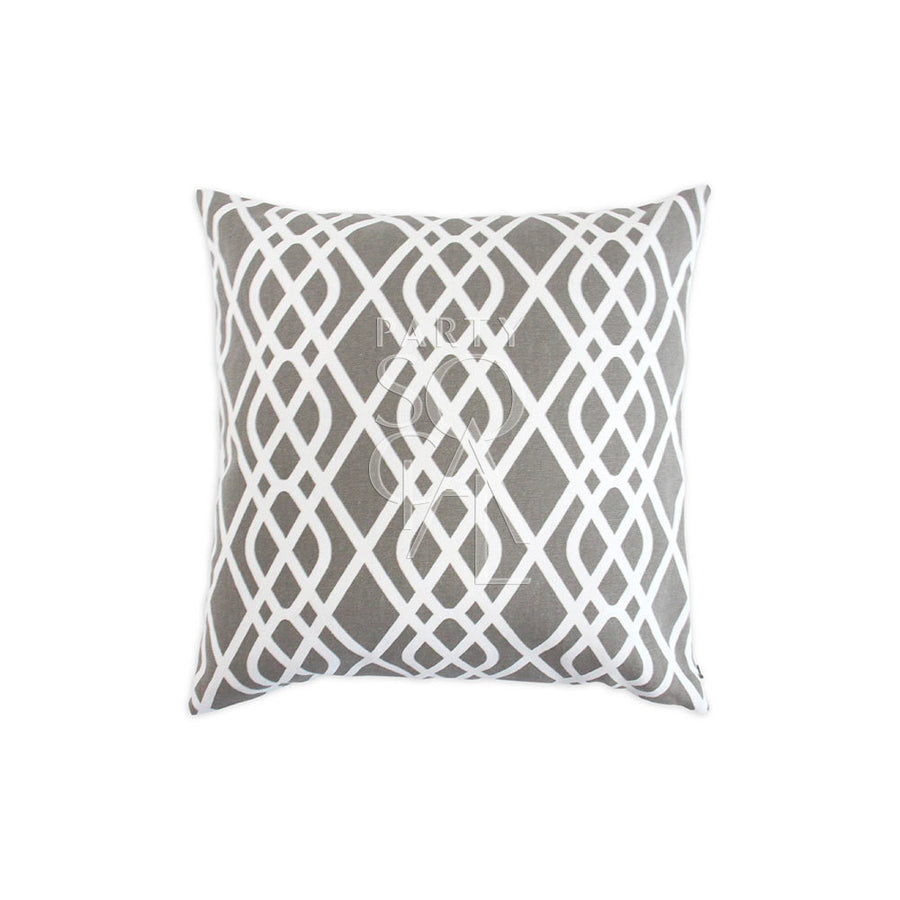 CUSHION GREY CURSIVE PRINT
