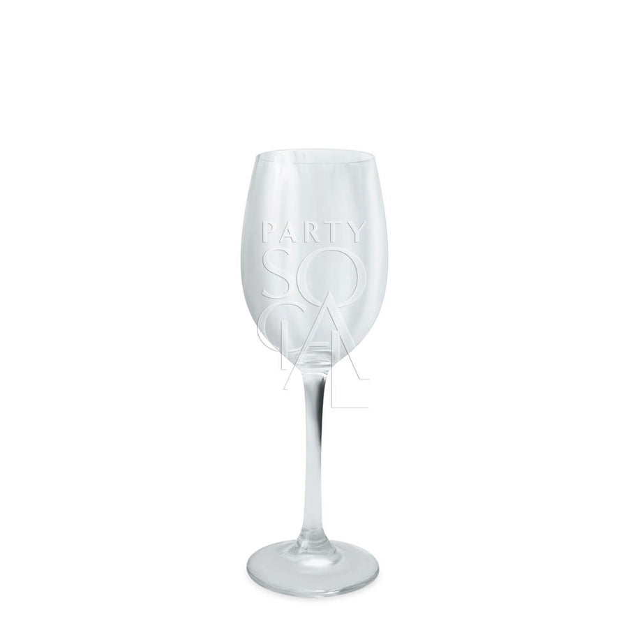 SIMPLE WHITE WINE GLASSES