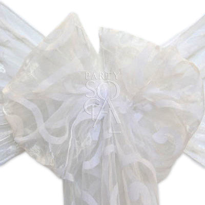 CHAIR SASH SHEER ORGANZA