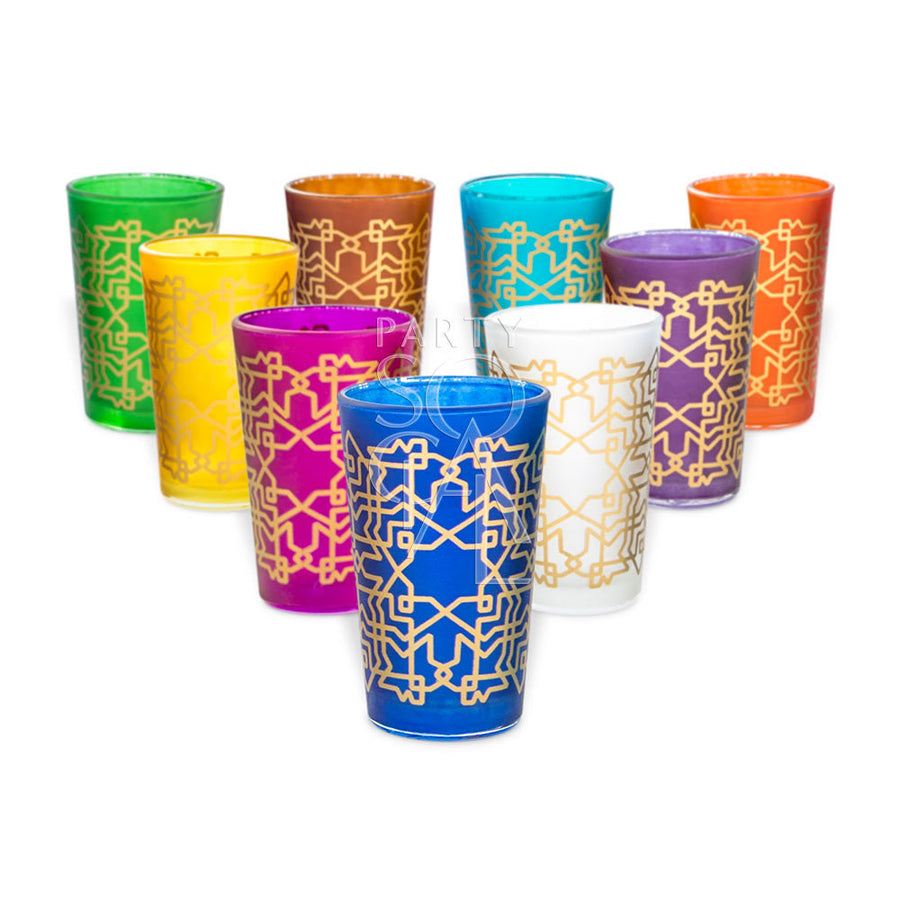 COLORED TEA GLASSES