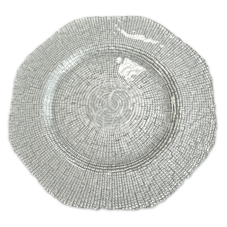 CHARGER PLATE - SILVER GRAIN