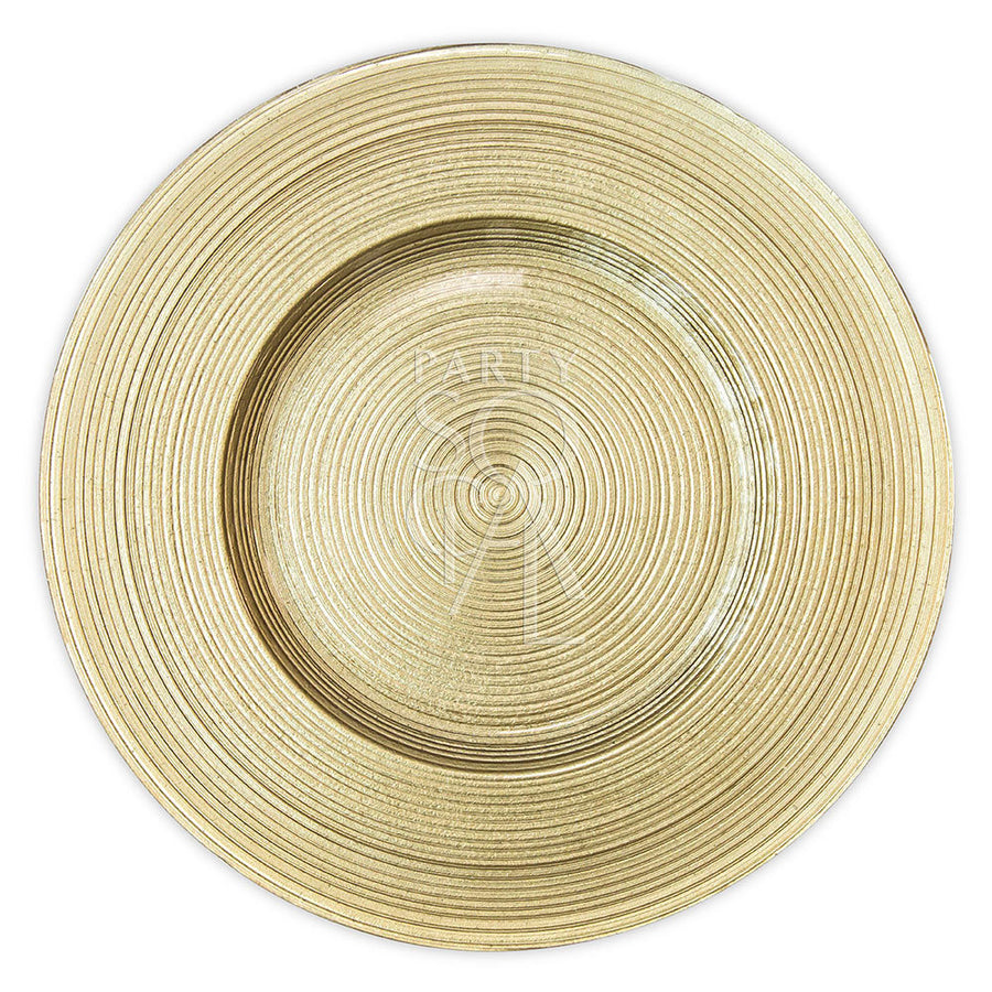 CHARGER PLATE - GOLD LINED