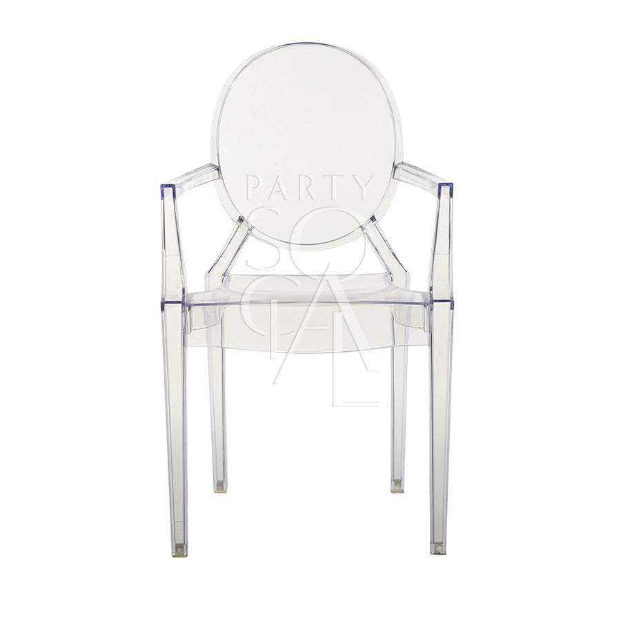 GHOST CHAIR WITH ARMS (LOUIS)