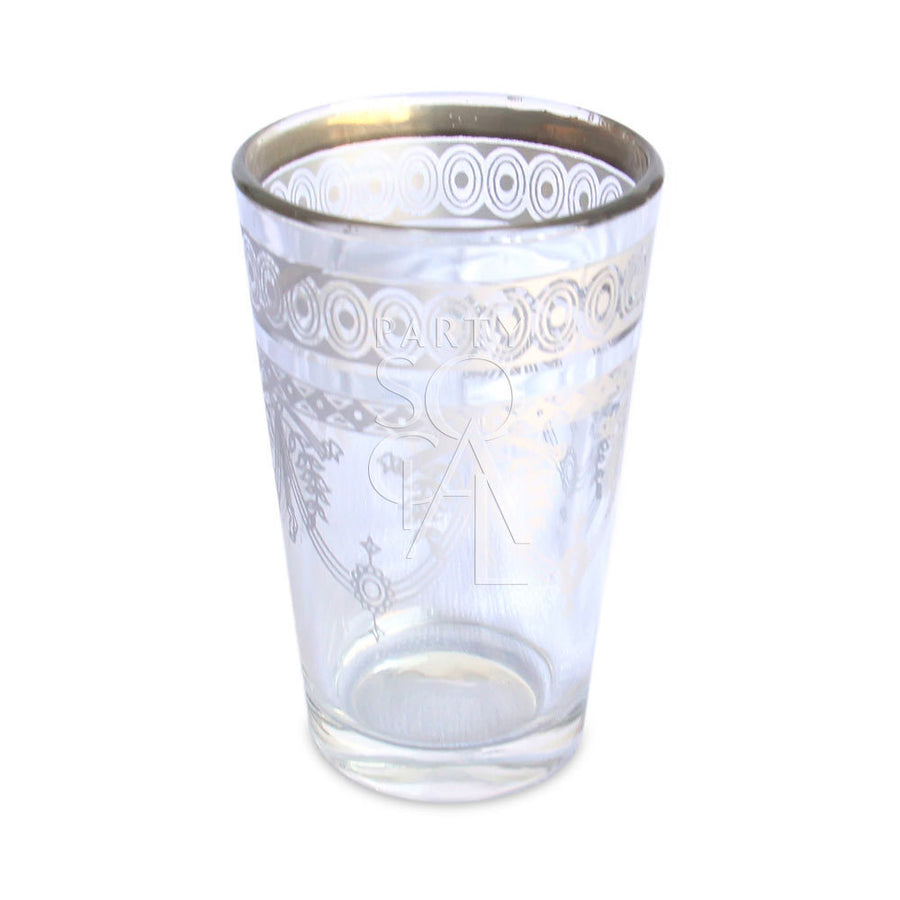 MOROCCAN TEA GLASS - PLATINUM