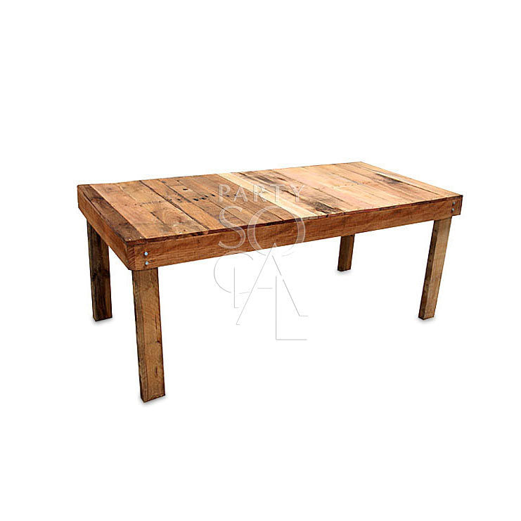 RECYCLED WOODEN DINING TABLE